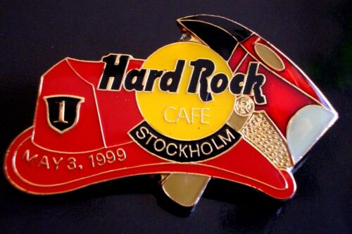 Axe LE500 Fire 3rd May 1999 HRC Hard Rock Cafe Stockholm Fireman Hat