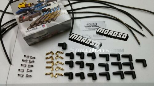 Unassembled Moroso Mag-Tune Universal Spark Plug Wires Kit HEI 90 Degree