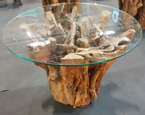Reclaimed Teak Root Hand Finished Table Solid Teak Coffee