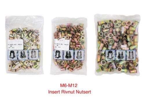 M6-M12 Zinc Plated Carbon Steel Rivet Nut Threaded Insert Nutserts AU 100PCE