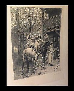Meissonier / Boilot Impartial ''l-stop'gästehaus'' Exquisite Traditional Embroidery Art musketiere Pferd Pferde