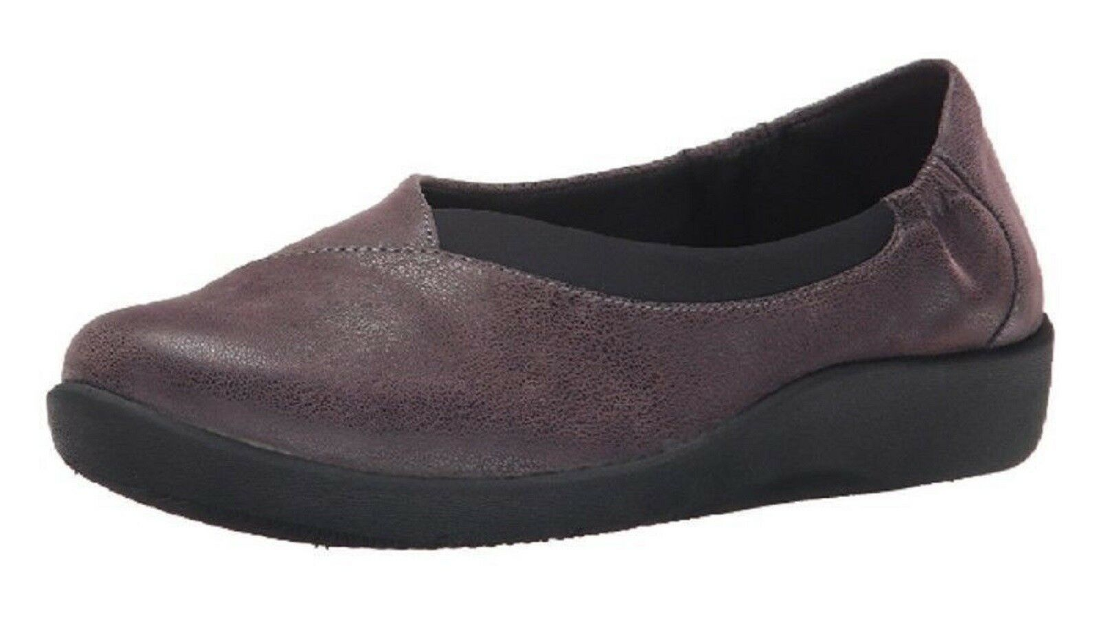 CLARKS Ladies SILLIAN JETAY Heathered Fabric Slip-On shoes shoes shoes PURPLE  Sz. 6.5 M NIB 0c3f5a