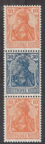Deutsches Reich Germania VIII MiNr. S 16 ** Zusammendruck 141 144 141 MH-Bogen 4