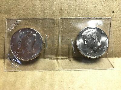 2018 P/&D Kennedy Half Dollar Uncirculated 2 Coins Philadelphia /& Denver Mint 50c