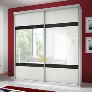 Schwebetürenschrank Claudia 02 203 Cm Spiegel Modern Kleiderschrank
