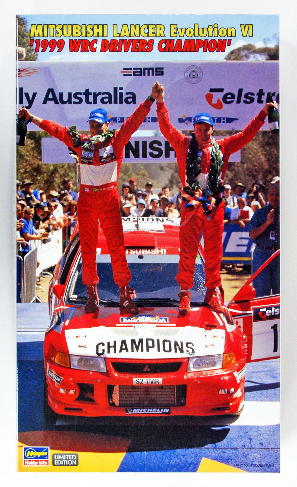 HASEGAWA 1 24 MITSUBISHI LANCER EVOLUTION VI 1999 WRC DRIVERS CHAMPION  20303