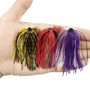 12-20pcs-Fishing-Rubber-Jig-Skirts-Mixed-Color-50-Strands-Silicone-Skirts-Lure