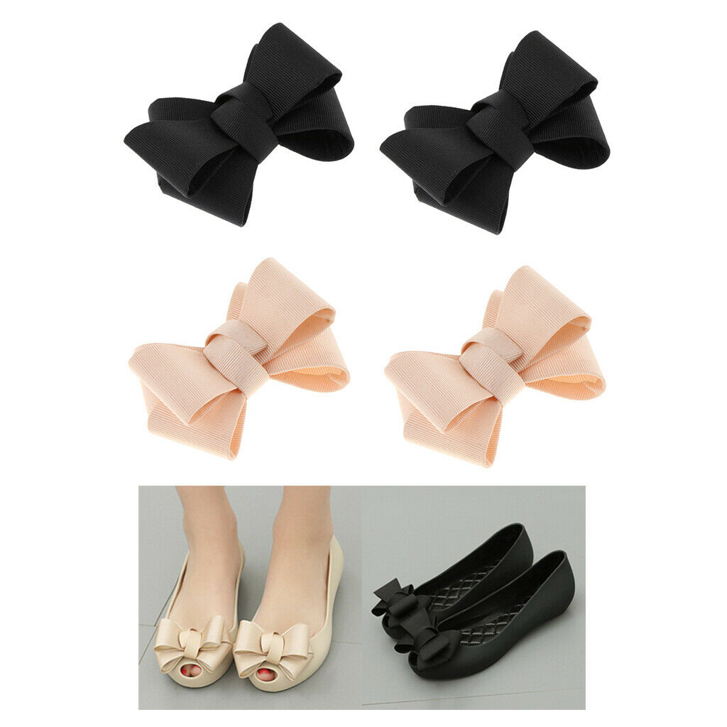 Pack of 4 Decorative Shoe Clips Ladies DIY Shoe Charms Buckle 2 Colors