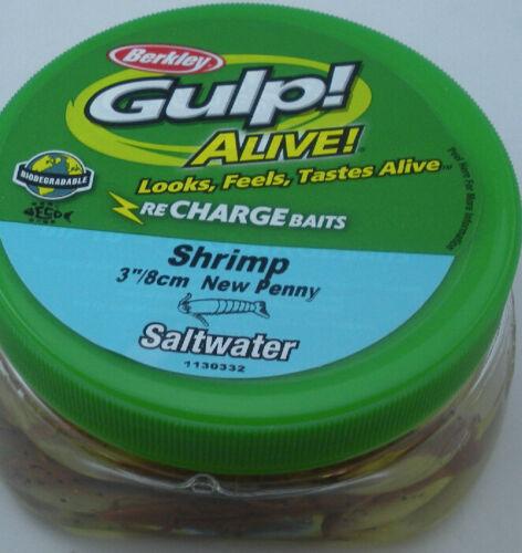 """Berkley GAPSHR3-NP Gulp Alive 3/"""" Shrimp 11 Oz Bucket New Penny 10335"""