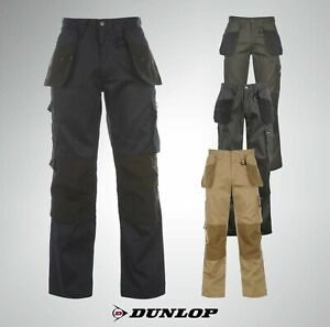 New-Mens-Dunlop-Heavy-Duty-Cargo-Work-Wear-Cordura-Trousers-Sizes-S-M-L-XL-XXL