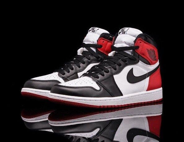 Nike Uomo Air Jordan 1 Retro Hi OG Nero Toe 2016 555088 125 Uomo Size 12