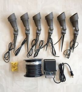 led phoenix spot light low voltage outdoor landscape lighting kit