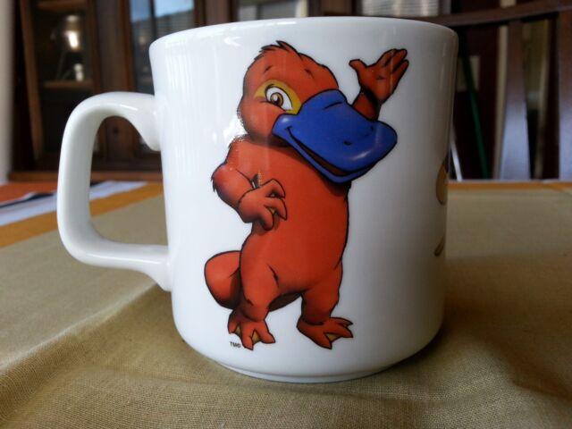 RARE SYD THE PLATYPUS  Coffee MUG SYDNEY AUSTRALIA OLYMPIC GAMES TRACK & FIELD