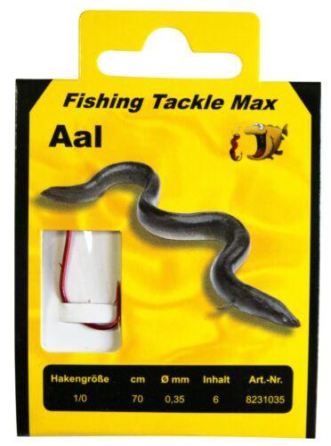 FTM Aal Haken Rot gebunden 70cm verschiedene Größen Fishing Tackle Max