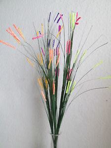 3 Gras Blütenzweige Violett 62cm Künstliche Kunst Pflanzen ...