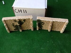 2 X Bridge Retain Walls Sections -n Scale N Gauge- 'stepped Style ' Foliage Un Style Actuel