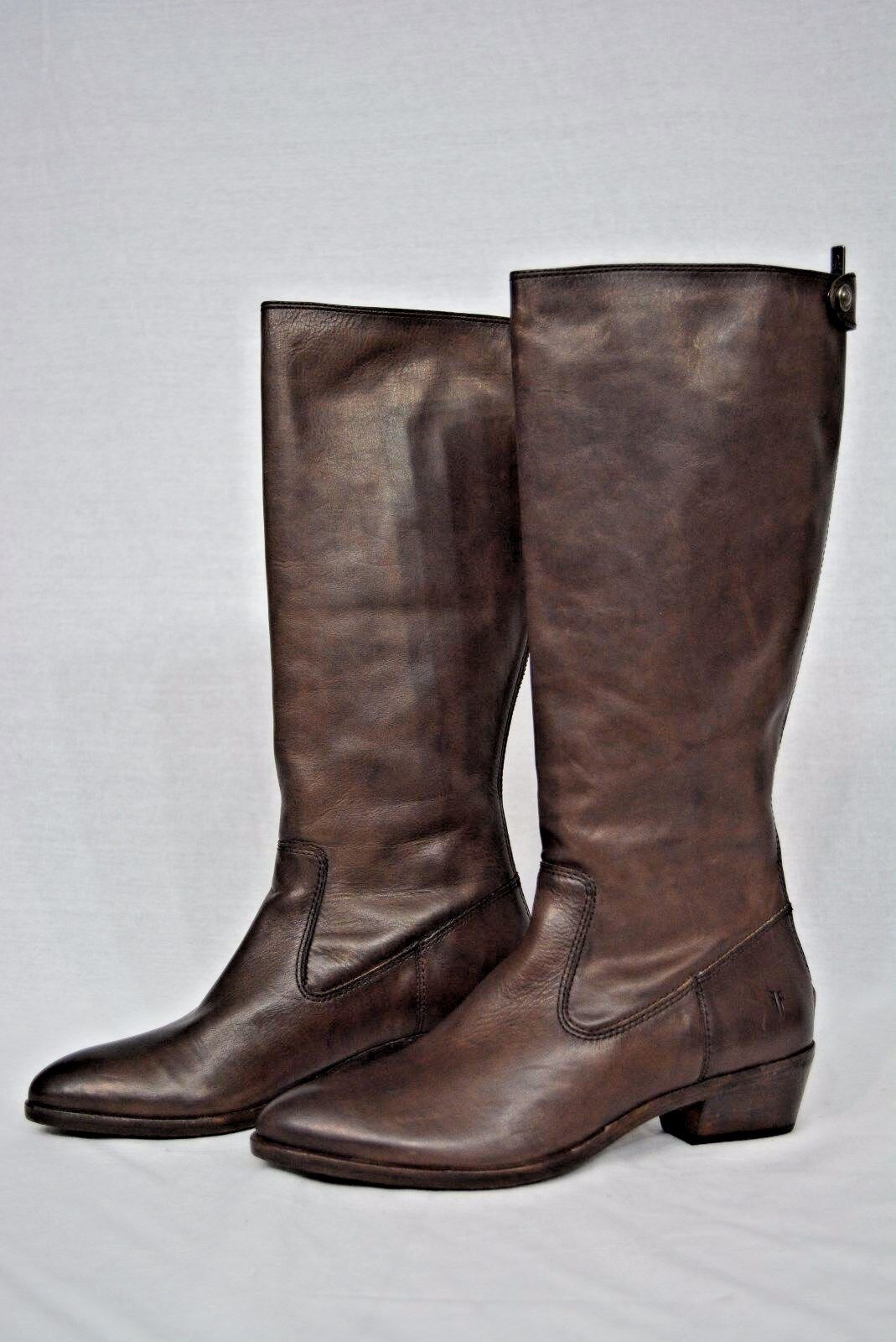 NEW  Frye Ruby Tall Boots in Charcoal color. Brown Leather Boots Size 7.5 M