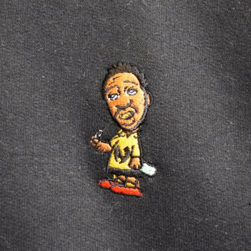 ODB X Charlie Brown Wu Tang Bordado Sudadera Gris Carbón por realidad