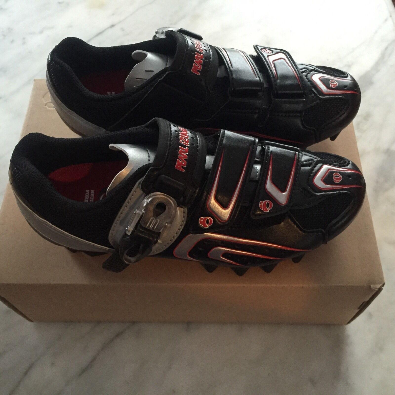 NOS Women's Pearl Izumi Race MTB Mountain Spin shoes 2-Bolt SPD Size 37 EURO