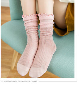 ladies cute retro soft cotton ankle socks with lace bo ebay