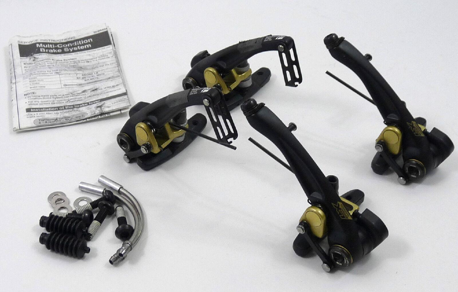 Shimano LX V Brake Conjunto de Colección Bicicleta de montaña Touring BR M-570 casi han desaparecido  nuevo viejo Stock