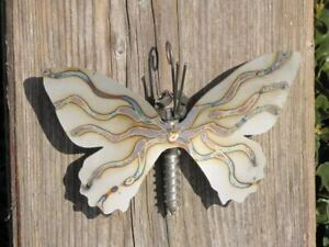 Edelstahl Schmetterling zum Hängen 15 cm Metall Wanddeko Wandbild