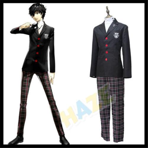 Persona 5 P5 Joker Akira Kurusu Cosplay Costume School Uniform Outfit Suit