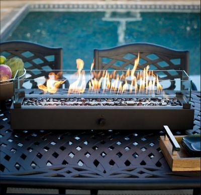 Outdoor Tabletop Gas Fire Pit Patio Table Top Propane