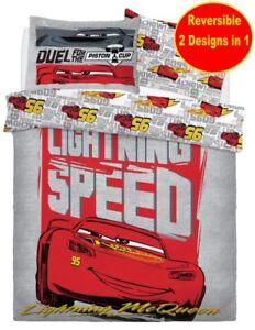 NEW-DISNEY-CARS-DOUBLE-DUVET-QUILT-COVER-SET-BOYS-KID-CHILDRENS-RED-BED-GIFT