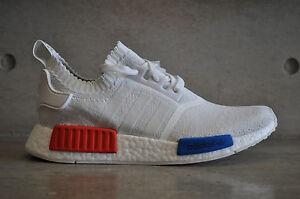 uhyikf Adidas NMD Runner OG Primeknit PK - White/Blue/Red | eBay