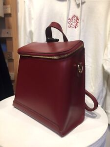 1ec292ae4f Image is loading brandy-melville-red-faux-leather-backpack-purse-NWT
