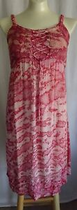 CC10-Sacred-Threads-Pink-Tie-Dye-Dress-Mesh-Bodice-Laces-Free-size-S-M-L