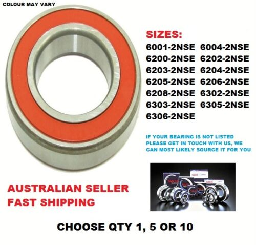 NACHI 2NSE 2RS 2 CONTACT SEAL TYPE DEEP GROOVE BALL BEARING: FOR GEARBOX, MOTORS