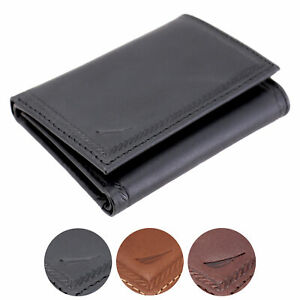 Nautica-Men-039-s-Genuine-Vintage-Leather-Credit-Card-Id-Trifold-Wallet