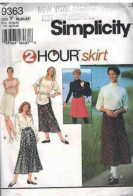 9363 Vintage Simplicity SEWING Pattern Misses 2HOUR Pull on Elastic Skirt UNCUT
