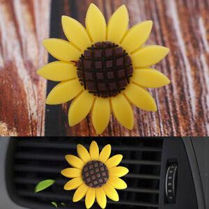 Car-Air-Freshener-Perfume-Sunflower-Vent-Clip-Fragrance-Scent-Diffuser-Decor-WI