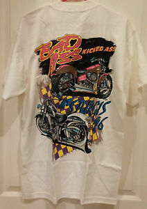 "BRAND NEW-Vintage"" Bad Ass Kicked Ass STURGIS 1996""-Harley T-Shirt"