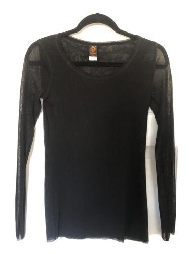 jean paul gaultier soleil Black Mesh Shirt Size La