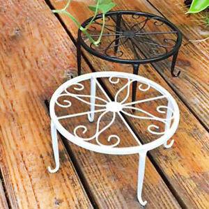 Wrought-Iron-Pot-Plant-Stand-Flower-Shelf-Rack-Holder-Garden-Shelves-Indoor