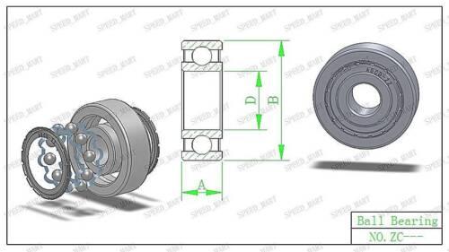 35mm*55mm*10mm 5PCS 6907ZZ Deep Groove Metal Double Shielded Ball Bearing