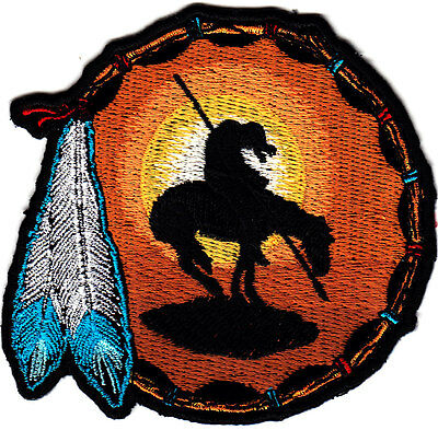 END OF THE TRAIL, SOUTHWEST-WESTERN- Iron On  Embroidered Applique, Southwest