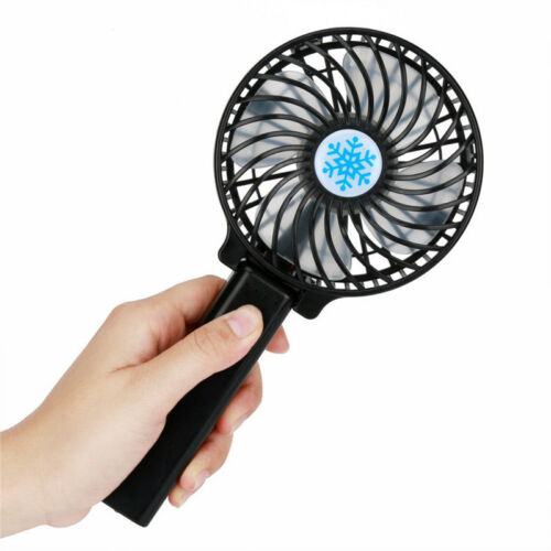 Rechargeable USB Fan Air Cooler Mini Operated Hand Held Protable No Battery  Bd