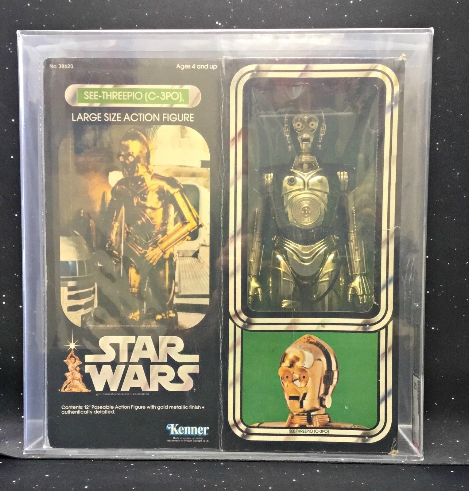 1979 Kenner Star Wars 12-Inch Series C-3P0 AFA 70