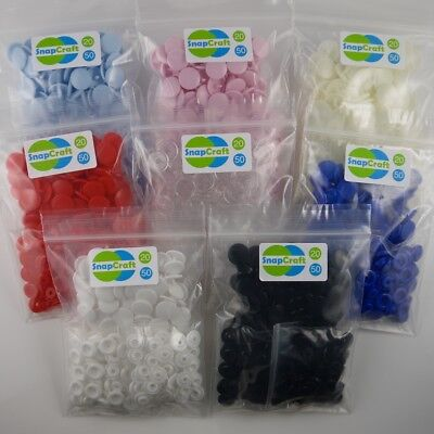 Transparent 10 Pack KAM Plastic Dummy Clip Fasteners Clear