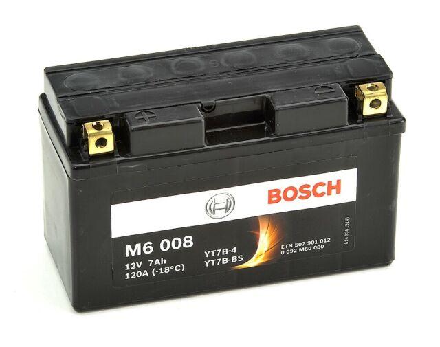 Bosch M6008 Batterie moto YT7B-4 / nYT7B-BS - 12V AGM 7A/h-120A