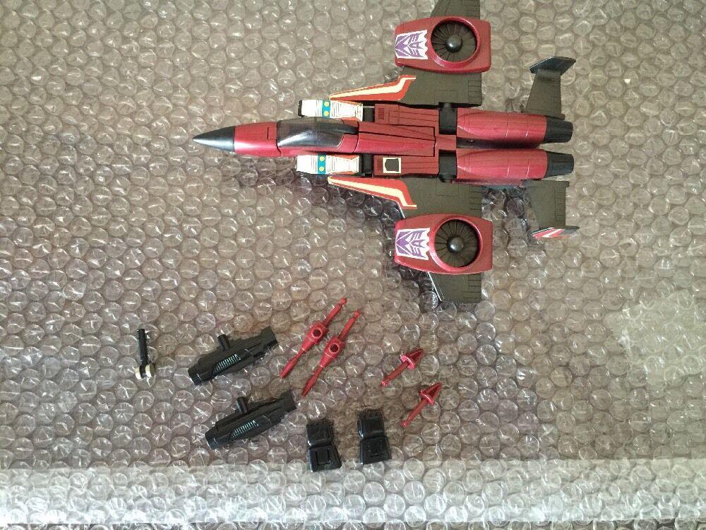 Vintage Gen1 G1 Transformers Decepticon Thrust Hasbro 1985 100% Loose Complete