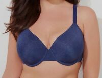 48d Bra Catherines Dark Blue Underwire Perfect Fit Back-smoother T-shirt Bra