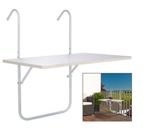 60 x 40 cm Balkontisch Balkon-Tisch Geländertisch Geländer Hängetisch Tisch ca