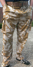 "BRITISH ARMY WINDPROOF TROUSERS, DESERT Large Long 35"" W 35"" L  90/88/104 combat"