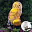 Outdoor-Solar-Power-Garden-Lights-Owl-Decor-For-Lawn-Yard-LED-Landscape-Light miniature 1